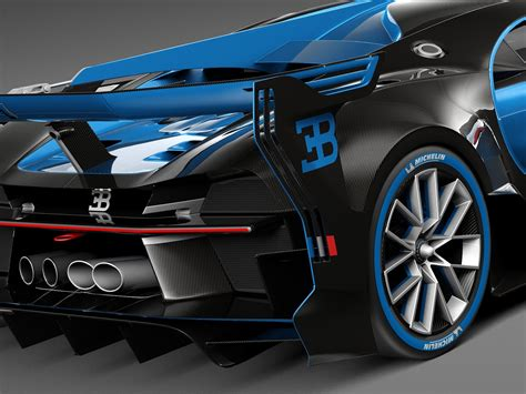 Race against other fast opponents, also driving bugatti cars. Bugatti Chiron Race Car 2017 3d model - CGStudio