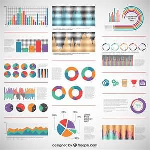 Colorful Diagrams For Infographic Vector