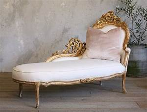 Chaise Style Baroque : vintage shabby chic gilt rococo french style chaise antique french furniture pinterest ~ Teatrodelosmanantiales.com Idées de Décoration
