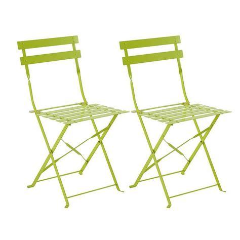 lot chaises lot de 2 chaises de jardin pliantes camargue