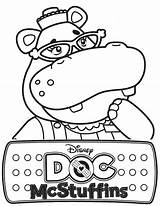 Mcstuffins Hippo Doc Hallie Coloring sketch template
