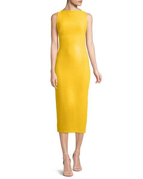 Boat Neck Dress Yellow by Lyst Brandon Maxwell Sleeveless Boat Neck