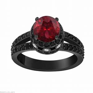 RED GARNET & DIAMOND ENGAGEMENT RINGS collection on eBay!