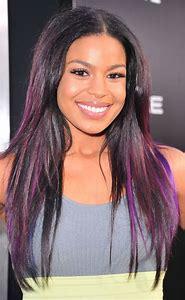 Dark Purple Black Hair with Highlights