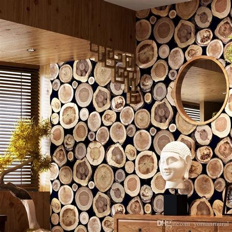 modern thick  wood log texture embossed pvc waterproof