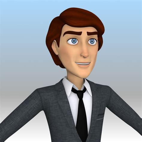 cartoon business man handsome max