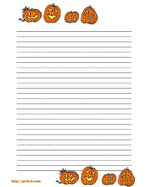lots  lined stationary halloween writing paper