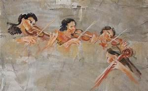 European Baroque Orchestra Painting by Jeni Caruana