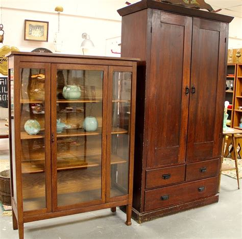 The China Cupboard by Found In Ithaca 187 Antique Oak China Cabinet With Glass