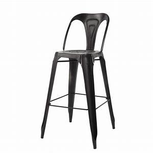 Chaise De Bar Haute : chaise de bar indus en m tal noire multipl 39 s maisons du monde ~ Teatrodelosmanantiales.com Idées de Décoration