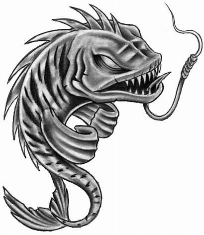 Fish Skeleton Tattoo Tattoos Pisces Stencil Drawings