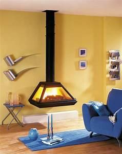 Poele A Bois Suspendu : cheminee fonte suspendue ~ Zukunftsfamilie.com Idées de Décoration