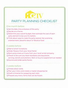 Sample Event Planning Contract Party Planning Checklist Free Download