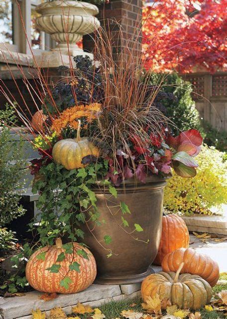 fall flower pot ideas 25 outdoor fall d 233 cor ideas that are easy to recreate shelterness