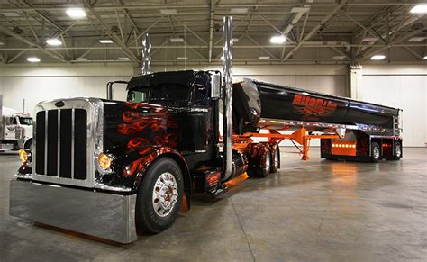 truck car black images trucks peterbilt black cars