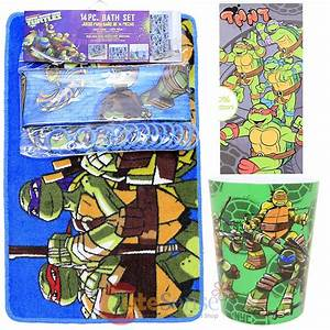 tmnt ninja turtles 16pc bath set bathroom rug shower With tmnt bathroom set