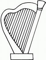 Harp Coloring Arpa sketch template