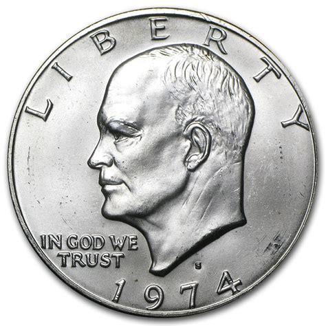 specifications eisenhower silver dollars 1974 s eisenhower silver dollar 40 silver brilliant uncirculated sku 5025 ebay