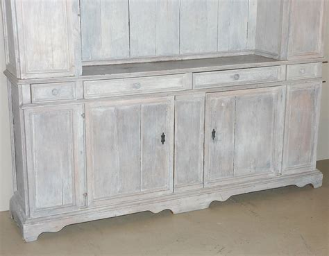 white washed cabinets 19th century whitewashed oak two part cabinet at