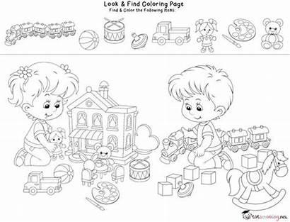Coloring Pages Hidden Printable Worksheets Preschool Activities