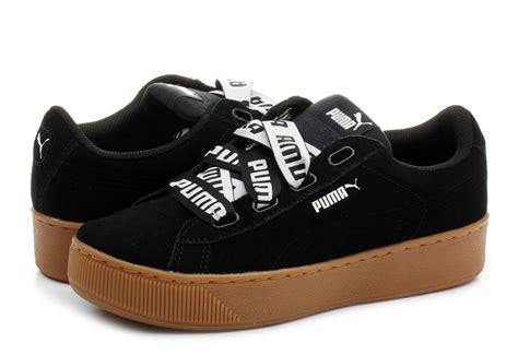 puma shoes puma vikky platform ribbon   blk
