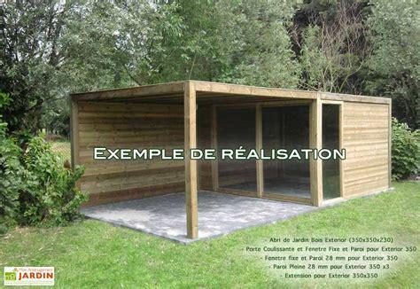 abris cuisine cing abri de jardin bois exterior 350x350x230 gardival