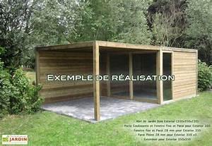 Abri Jardin En Bois : abri de jardin bois exterior 350x350x230 gardival ~ Dailycaller-alerts.com Idées de Décoration