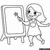 Easel Coloring Thecolor sketch template