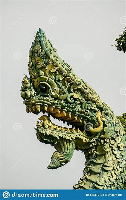 Dragon Ayutthaya Statue Thailand Taken Southeast Asia