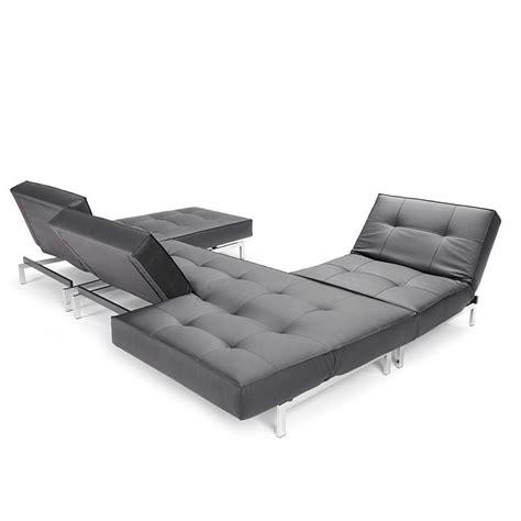 canapé lit modulaire convertible de luxe splitback pieds