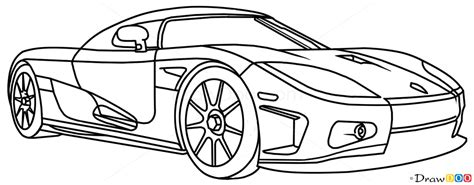 supercar drawing how to draw koenigsegg cc8s supercars how to draw