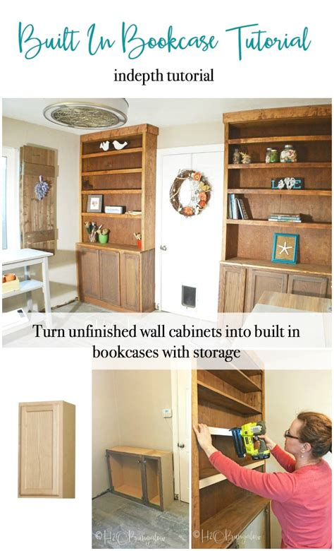 Bookcases With Cabinets by How To Build Built In Bookcases With Cabinets H2obungalow