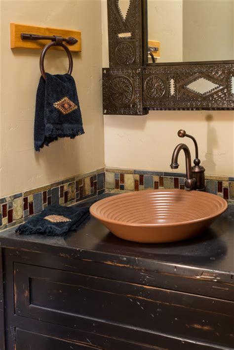 Brasada Ranch home half bath   Rustic   Bathroom   Other