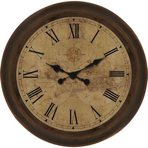vintage kitchen flooring shop allen roth analog indoor wall clock at lowes com