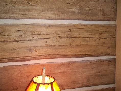 faux log cabin walls carved faux log wall rustic other by beautiful