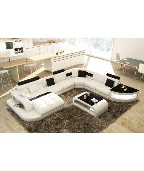 canapé d angle grande taille sydney 174 canap 233 panoramique design cuir