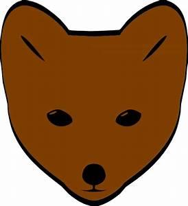 Brown Fox Face Clip Art at Clker.com - vector clip art ...