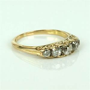 buy 18ct antique diamond engagement ring in yellow gold With antique diamond wedding rings