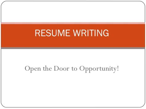 Resume Writing Powerpoint Slides resume writing ppt presentation