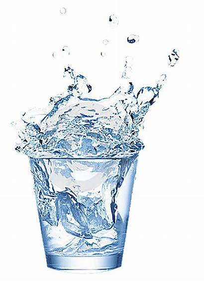 Water Cup Ice Clipart Drops Transparent Gifs
