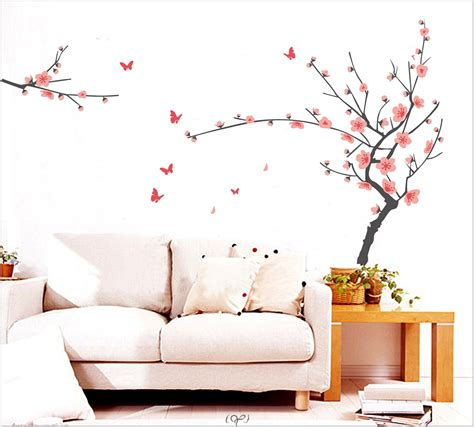 ikea bureau mural interior tree wall painting room decor for