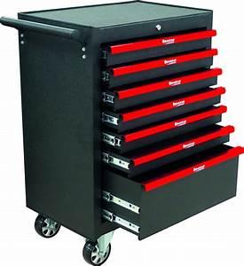 Etabli D Atelier Pas Cher : servante d atelier 7 tiroirs noir charge maxi 250kg pas cher 09142 tiroirs rouges ~ Melissatoandfro.com Idées de Décoration