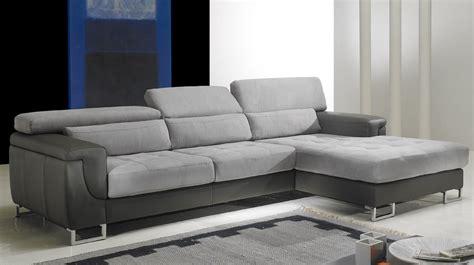 canapé droit canapé d 39 angle droit cuir microfibre gris pas cher