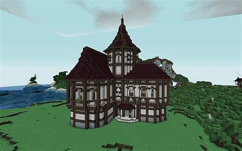 medium house inspired  cheydinhal style architecture oblivion minecraft project