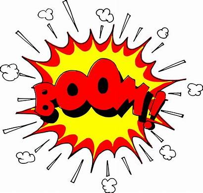 Explosion Boom Comic Clipart Vector Cartoon Bomb