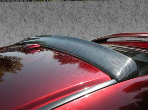 dsr style carbon fiber rear roof spoiler  honda accord