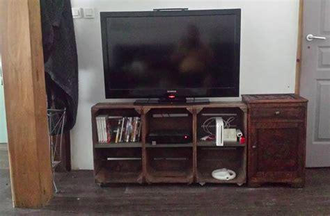 fabriquer un meuble tv avec des caisses en bois des id 233 es