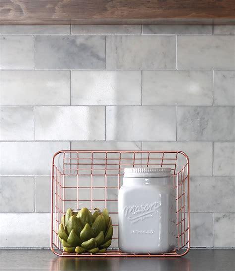 Marble Tile Kitchen Backsplash by Diy Marble Subway Tile Backsplash Tips Tricks And What