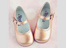 4a759a6ed5b4c9 chaussures pour bebe bruxelles Eli1957 Girls Metallic Rose Gold Mary Jane