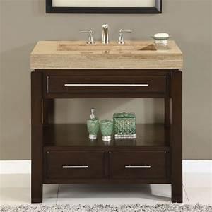 36 perfecta pa 5522 bathroom vanity single sink cabinet With dark walnut bathroom cabinet